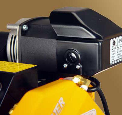 The 1 HP carbon brush motor generates a tremendous amount of torque for incredible cutting performance.