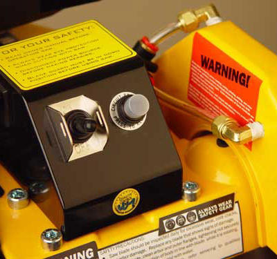 Automatic thermal overload protection prevents the motor from overheating and protects the saw from power surges.