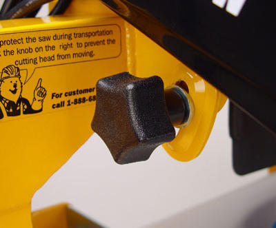 """Cutting depth can be easily adjusted to accommodate 6"""" to 10"""" blades and to provide plunge cutting functionality."""