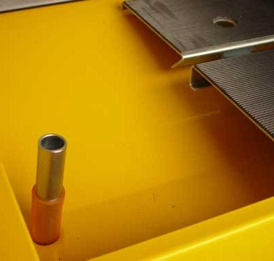 The water tray is part of the powder coated steel frame so that it is more durable, easier to clean, and rust-proof.