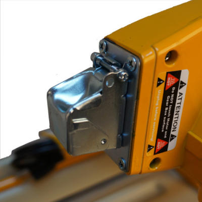 SawMaster's signature toggle switch shield is now spring loaded to reduce down time from an exposed power switch