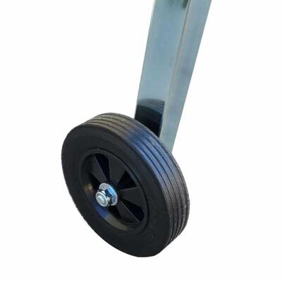 Solid 6-inch wheel makes moving the saw on the job-site reliable and convenient.